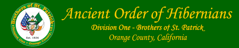 AOH Division One Orange County CA